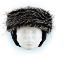 Čelenka na helmu - černo-bílá
